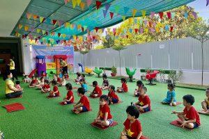 Buổi chiều của các bé trường mầm non Song ngữ tokyo.